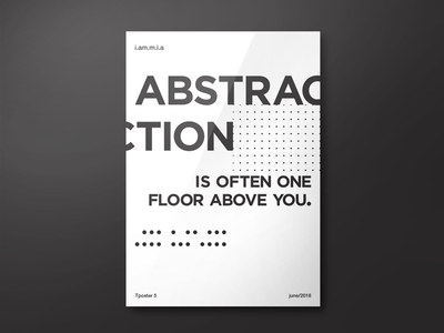 Tposter 5 mockup white black illustration typo typography vector posters poster