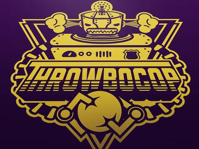 Throwbocop - Dodgeball Jersey Logo