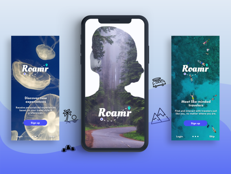 Find Your Next Adventure meet people people places discover more places female empowerment branding adventure icons icons explore mobile application travel app travel adventure