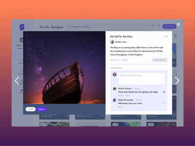 Published Work Page like design system like work favorite tags product design share work feedback post view post ui design button atomic information hierarchy comments published post publish view work upload work page