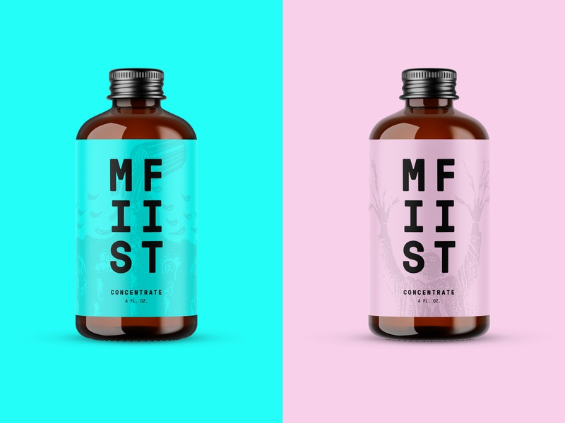 MISFIT bottles coffee bottle package