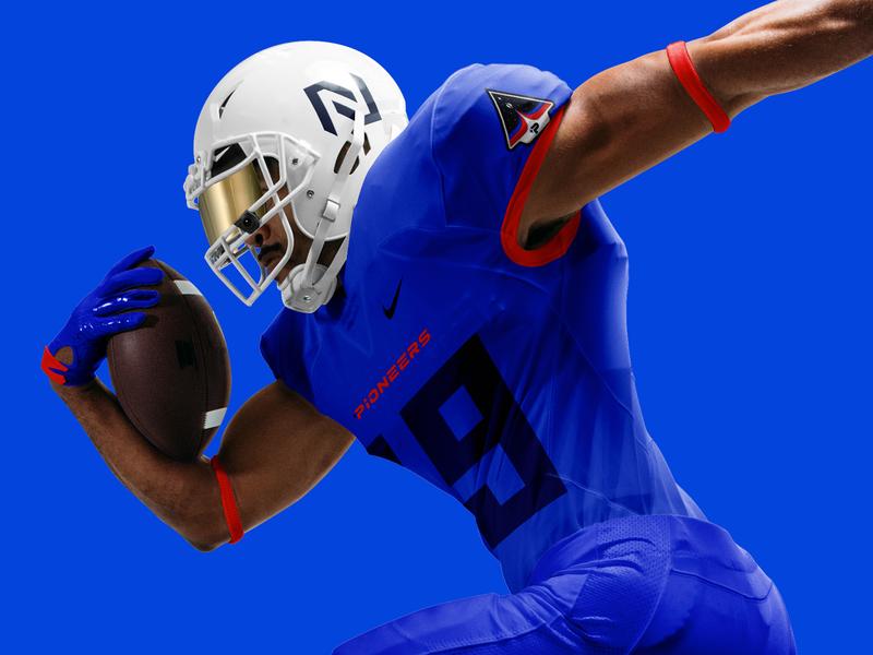 Northland Pioneers Rebrand - Football Jersey space college football branding logo