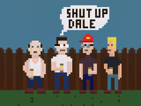 King Of The Hill Pixel Art