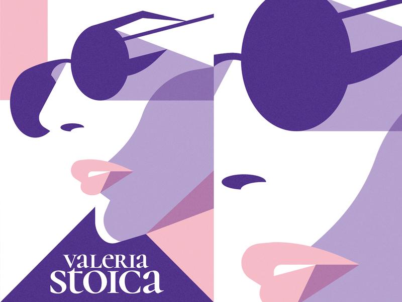Stylish portrait poster fashion geometric girl flat vector illustration face portrait adobe illustrator vector artwork illustration