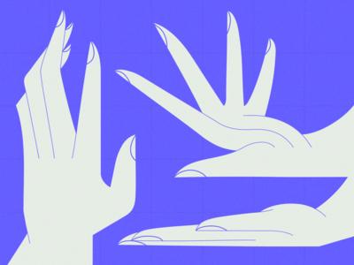 Hands study hands hand blue flat vector illustration adobe illustrator vector artwork illustration