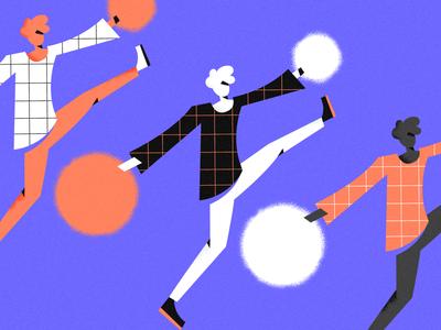 Summer is coming! purple orange vibrant character flat vector illustration adobe illustrator vector artwork illustration