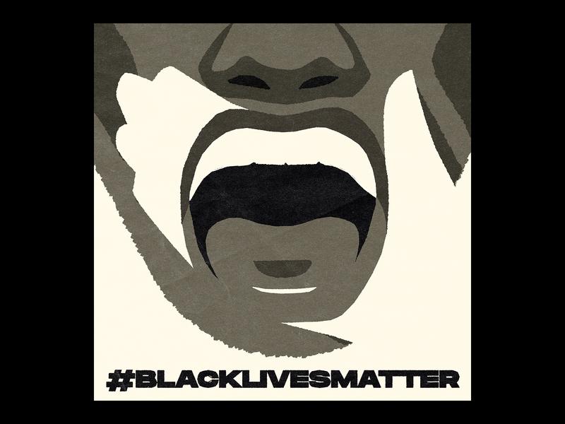 #blacklivesmatter negative space hand george floyd blm blacklivesmatter vector illustration face adobe illustrator vector artwork illustration