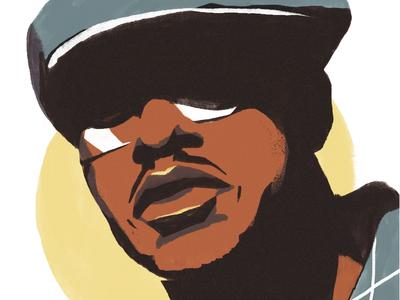 Portrait of Guru hiphop painting texture face portrait vector artwork illustration