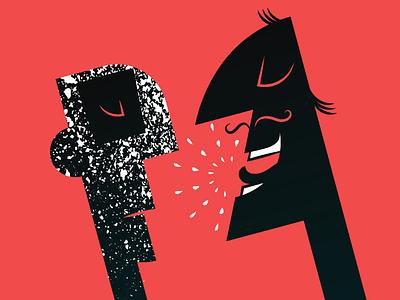 sigh... funny graphic comics comic character black artwork adobe illustrator vector red illustration