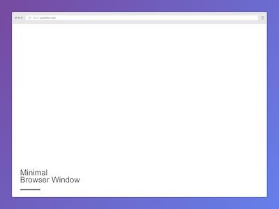 Minimal Browser Window mockup - Affinity Designer mockup affinity
