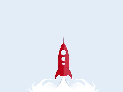 Rocket launch (Vector Freebie) vector free