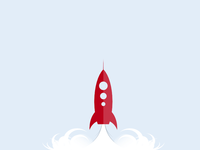 Rocket launch (Vector Freebie)