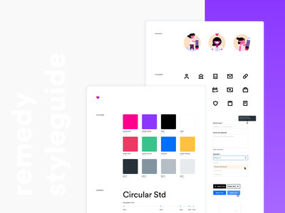 UI Stylesheet & Design System | Remedy Mobile visual design branding component library design system stylesheet styleguide ui