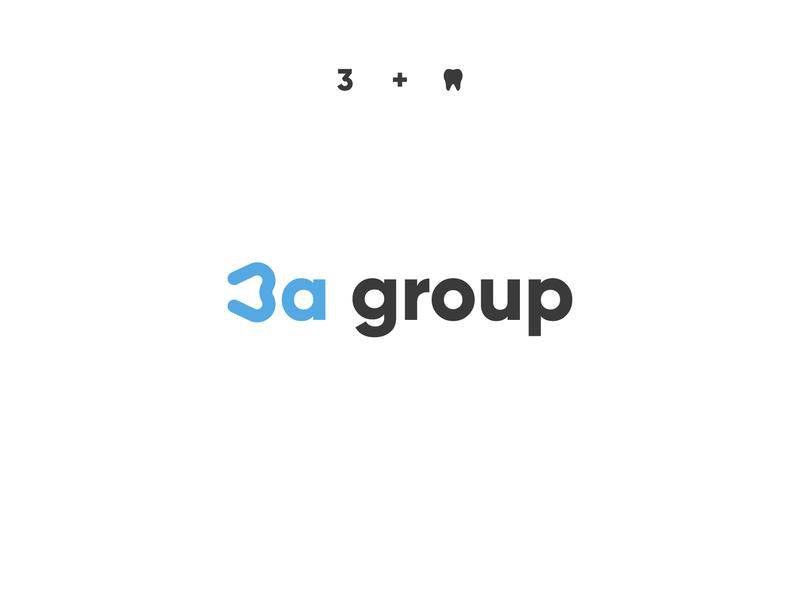 3a group tooth 3a minimalist minimal medical dental symbol modern icon creative creativelogo logo designer logo design typography branding logotype brand logo design