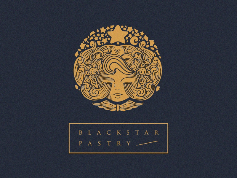 Black Star Pastry pastry logo vintage illustration star
