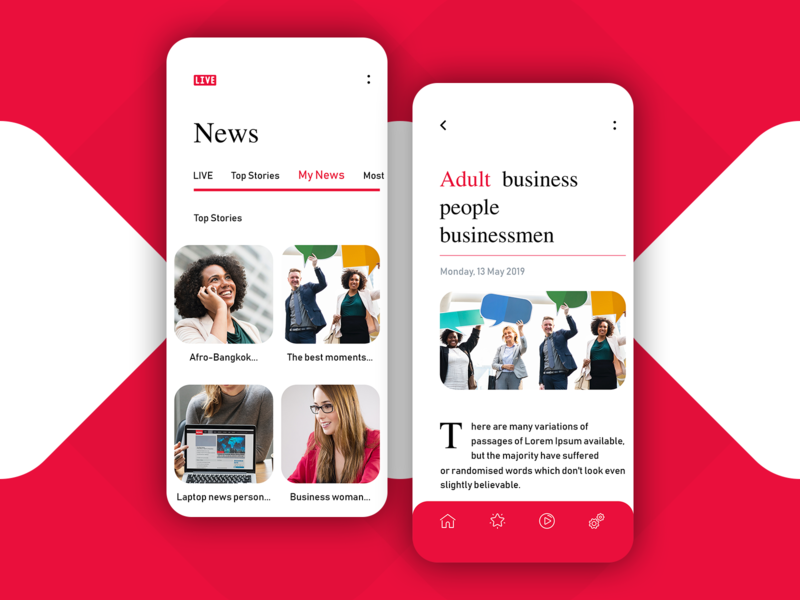 News Mobile App creative logo app design news