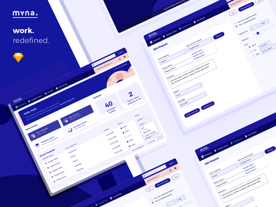 Work Management Application Design icons application design system user interface business wireframe uidesign ux dashboard app management work