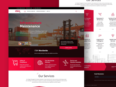 itbm group website redesign solutions delivery construction medical uiux ui responsive icons typography design corporate clean web design