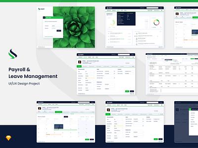 Payroll & Leave Management Dashboard application design business branding web application web app design ux design leave management payroll web app design ui dashboard