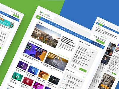 hexabim professional business blog portal dashboard logo website concept blog uiux design website design website