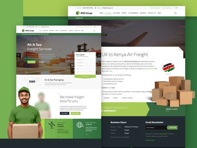UK Freight Forwarding Website Redesign africa web design cargo ship typography branding logo ui website design design website business forwarding freight