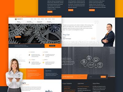LogicalDOC frontpage redesign branding responsive illustration ux ui business joomla web design design