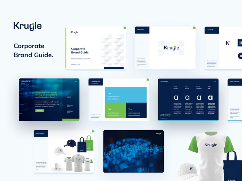 Krugle brand guide corporate merchandise brand design brand identity style guide typography icon design illustration logo branding