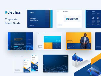 eclectics corporate brand guide styleguide merchandise illustration icon design corporate branding brand identity brand design