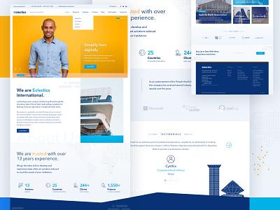 Eclectics Website Redesign woocomerce ecommerce corporate branding brand design corporate website builder wordpress web development website design