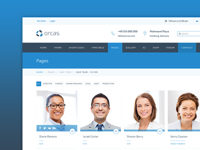Our team - orcas template by arrowthemes - Dribbble