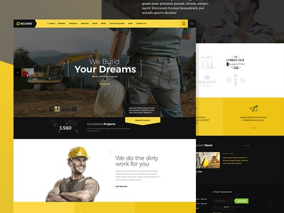 Recover Construction Joomla template