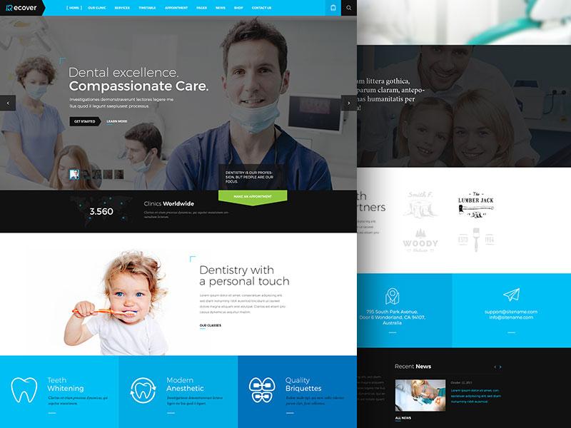 Dental Skin cms joomla ui design website recover dentist dental