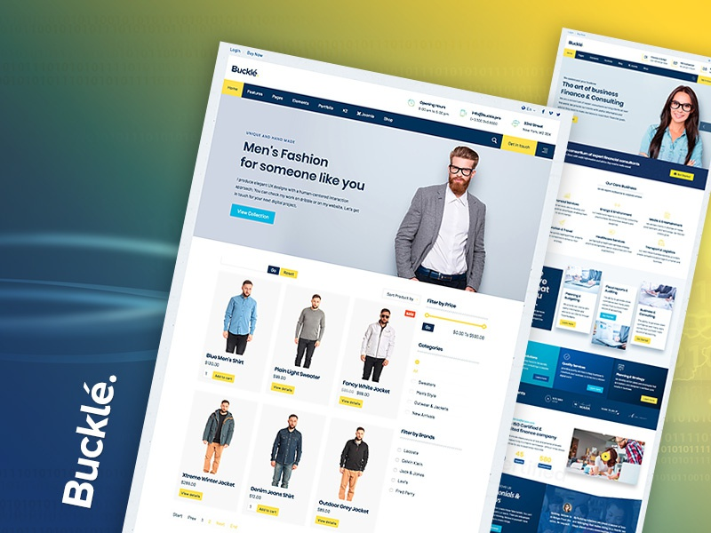 Fashion Ecommerce Online Shop web design template business finance checkout cart shop online shop ecommerce