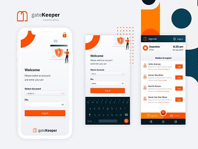 Gatekeeper Mobile App user interface logo ux mobile ui mobile app design android mobile