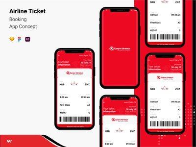 Airline Ticket Booking App Concept