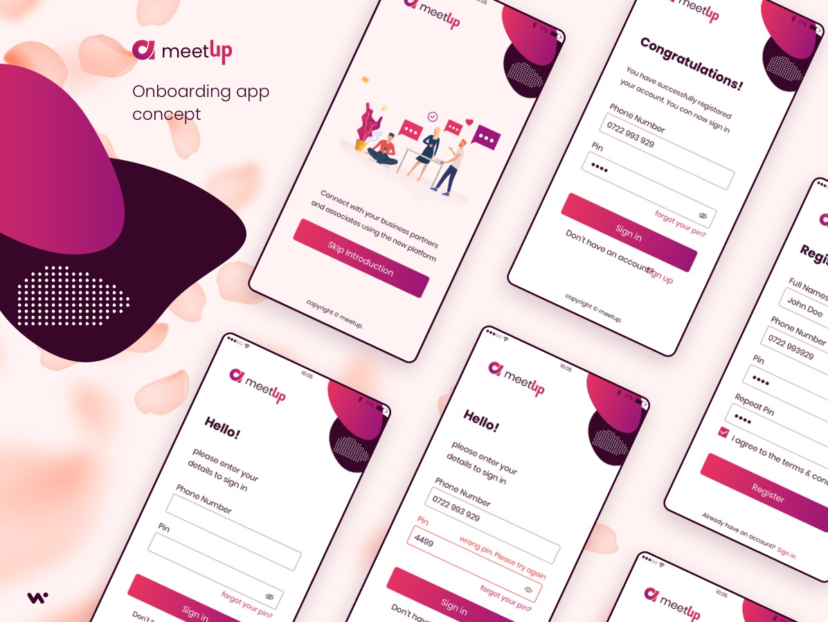 Freebie - Mobile App Design adobexd figma sketchapp mobile app design ux onboarding login screen design mobile app mobile