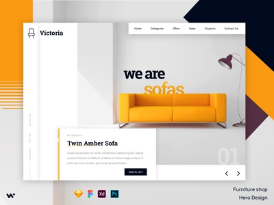 Furniture Ecommerce Hero Design