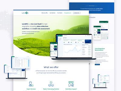 lendxs landing page business typography ui website web design branding logo design landing page saas app financial app