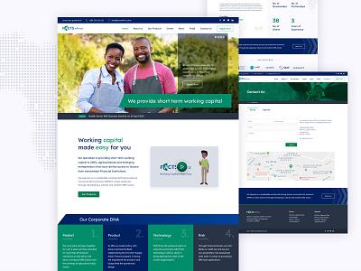 Facts africa website re-design branding logo responsive theme template business financial website corporate design website africa