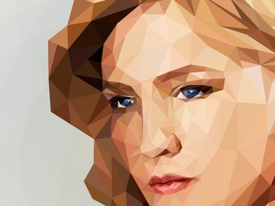 Betty Draper Low Poly Illustration