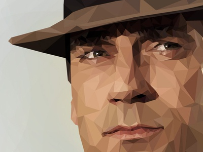 Don Draper Low Poly Illustration