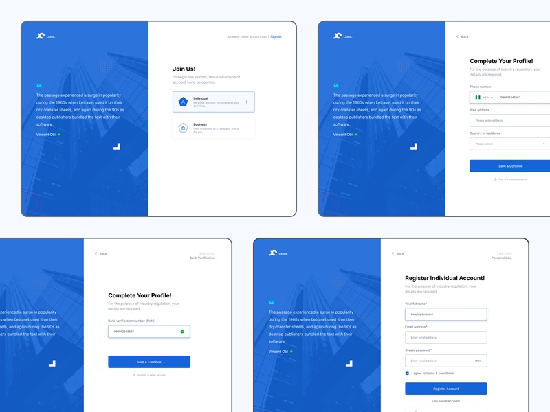 Account Registration login ui minimal uidesign dribbble design figma