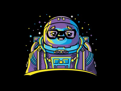 Mark Shuttlesloth is out of this world 🌟 🚀 t-shirt epic ridiculous offerzen illustration astronaut galaxy outer-space sloth