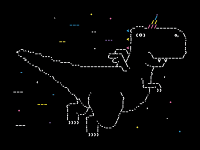 Dino Ascii 🎉