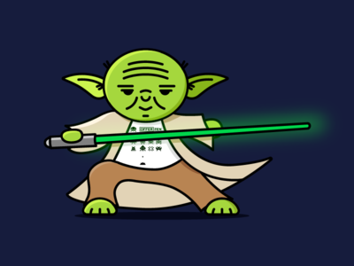 May the OfferZen force be with you 💥 icon advert cute epic offerzen star wars illustration yoda