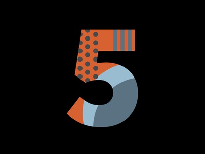 Numbers can work too. (3/3) digital logo design typography illustration experimental