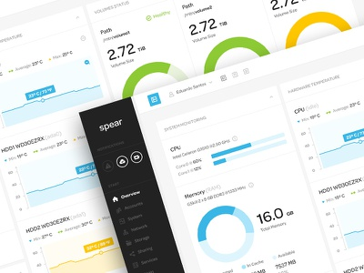 Spear app ui ux user interface user experience web app design minimal nas