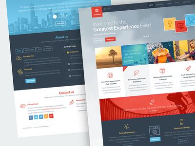 Vermilion clean minimal ui design web design user interface user experience ux template joomla rockettheme app