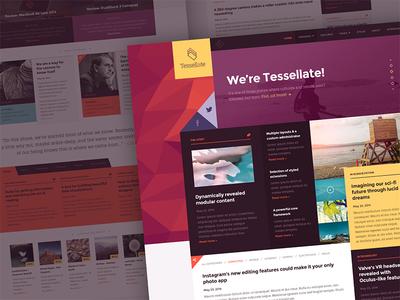 Tessellate clean minimal ui design web design user interface user experience ux template joomla rockettheme app