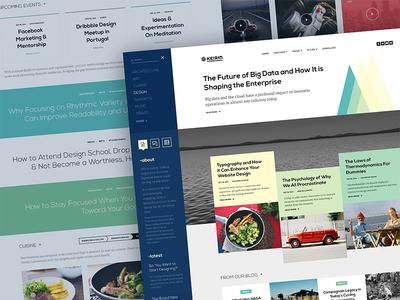 Keirin clean minimal ui design web design user interface user experience ux template joomla rockettheme app